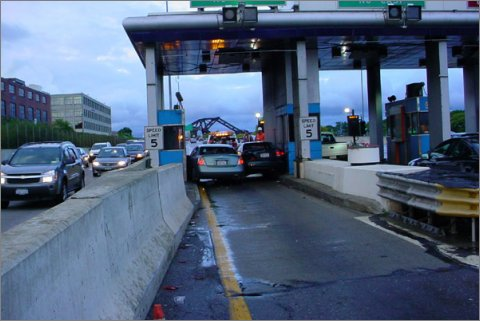 new york toll booth accident