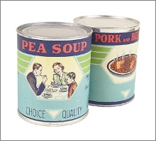canned pea soup