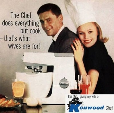 woman cook chef advertisement